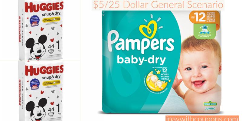 $5/25 Dollar General All Digital Diaper Scenario! #deannasdeals