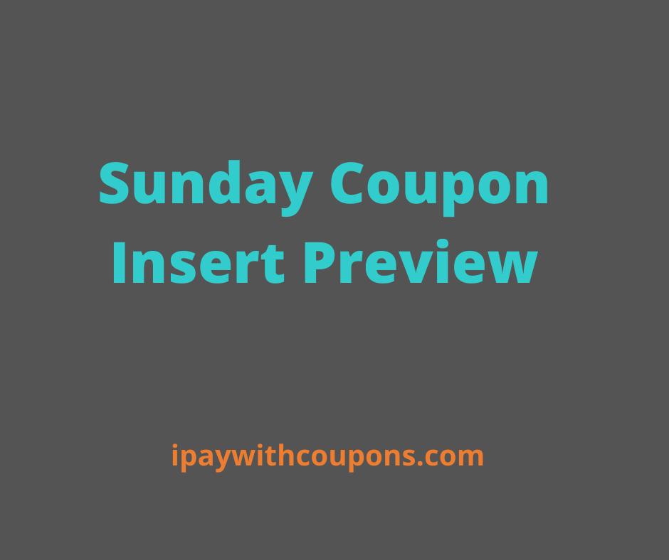 8/30 Sunday Coupon Insert Preview! #deannasdeals