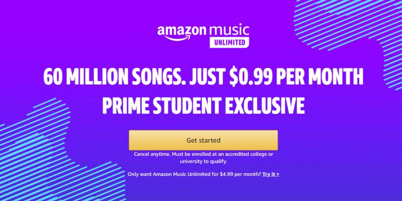 FREE Amazon Prime Student AND $.99 Amazon Unlimited Music! #deannasdeals