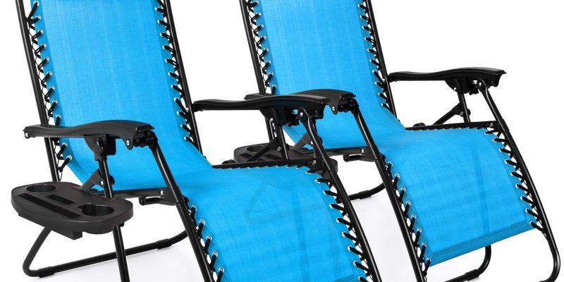 2 Adjustable Zero Gravity Lounge Chair Recliners $99.99! Walmart Deal