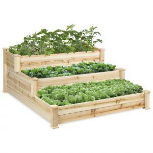 3-Tier Wooden Raised Bed Planter Kit $84.99 At Walmart!