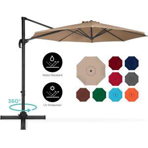10 Foot Patio Umbrella 360 Degree Rotation $129.99 Save 50%