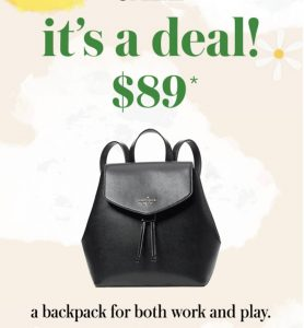 Kate Spade Backpack #AmySaves