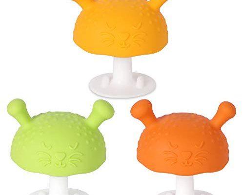 Eco inspired Baby Mushroom Teether Toy