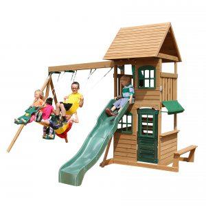 KidKraft Windale Wooden Cedar Swing Set