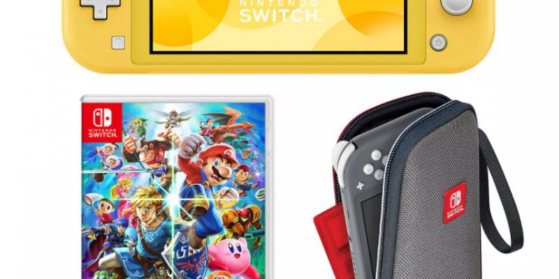 Nintendo Switch Lite Console & Super Smash Bros. Ultimate Game Bundle $269.00 + $50 Kohls Cash