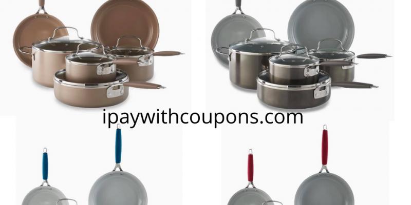 Food Network™ 10-pc. Nonstick Ceramic Cookware Set $69.99 + $10 Kohls Cash!